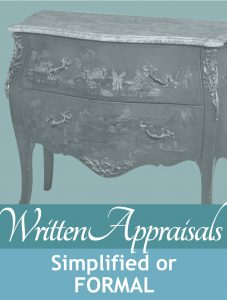 written estate appraisal reports