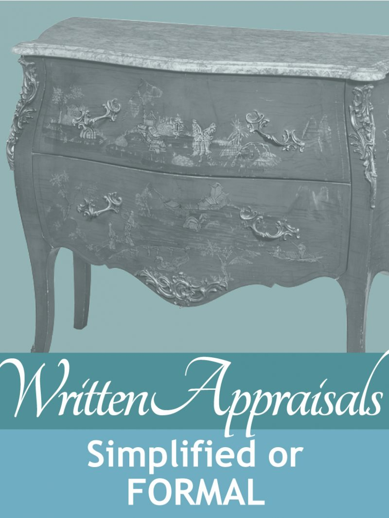 written estate appraisal reports