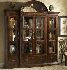 dark heavy china cabinet