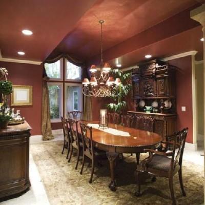 dark heavy dining room